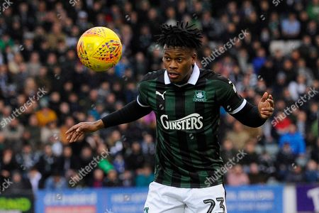 Ashley Smith-Brown (23) of Plymouth Argyle during the EFL Sky Bet League 1 match between Plymouth Argyle and Portsmouth at Home Park, Plymouth