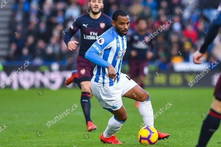 Jason Puncheon of Huddersfield Town (42) in action during the Premier League match between Huddersfield Town and Arsenal at the John Smiths Stadium, Huddersfield