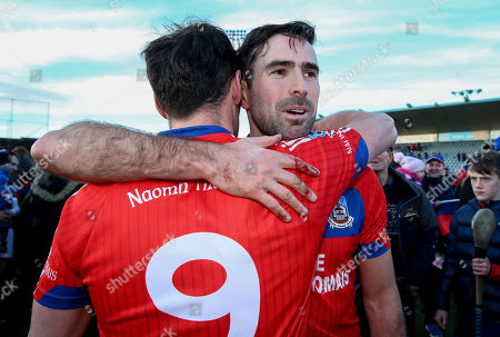 St. Thomas vs Ruairi Og. David Burke and James Regan of St Thomas celebrates after the game