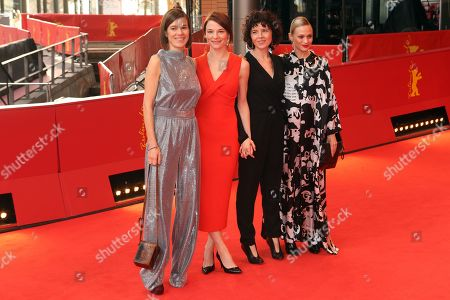 Pia Hierzegger, Austrian actress Valerie Pachner, Austrian director Marie Kreutzer and Austrian actress Mavie Hoerbiger arrive for the premiere of 'The Ground beneath My Feet' (Der Boden unter den FueÃ?en) during the 69th annual Berlin Film Festival, in Berlin, Germany, 09 February 2019. The movie is presented in the Official Competition at the Berlinale that runs from 07 to 17 February.