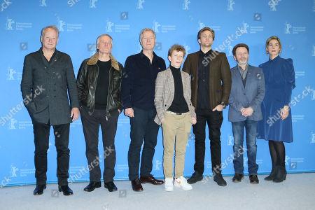 Stock Picture of Hans Petter Moland, Stellan Skarsgard, Bjorn Floberg, Jon Ranes, Tobias Santelmann, Per Petterson and Danica Curcic