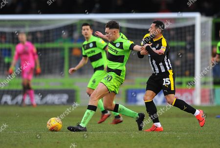 Stock Image of Paul Digby of Forest Green Rovers holds off Kane Hemmings of Notts County- Mandatory by-line: Nizaam Jones/JMP- 09/02/2019