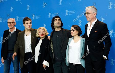 Producer Herman Weigel, German actor Jonas Dassler, Austrian actress Margarete Tiesel, German director Fatih Akin, Producer Nurhan Sekerci-Porst and German author Heinz Strunk pose during the photocall of 'The Golden Glove' (Der Goldene Handschuh) during the 69th annual Berlin Film Festival, in Berlin, Germany, 09 February 2019. The movie is presented in the Official Competition at the Berlinale that runs from 07 to 17 February.