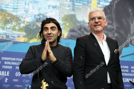 Fatih Akin (L) and Bjorn Floberg (R) attend the press conference of 'The Golden Glove' (Der Goldene Handschuh) during the 69th annual Berlin Film Festival, in Berlin, Germany, 09 February 2019. The movie is presented in the Official Competition at the Berlinale that runs from 07 to 17 February.