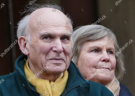 Sir Vince Cable and wife Rachel Smith
