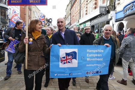 Lord Adonis at the Anti-Brexit March in Winchester.