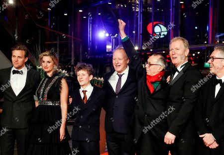 Tobias Santelmann, Danica Curcic, Jon Ranes, Stellan Skarsgard, Festival Director Dieter Kosslick and Director Hans Petter Moland arrive for the premiere of 'Out Stealing Horses' during the 69th annual Berlin Film Festival, in Berlin, Germany, 09 February 2019. The movie is presented in the Official Competition at the Berlinale that runs from 07 to 17 February.