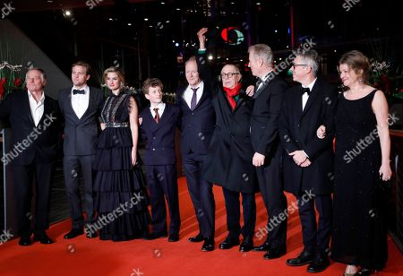 Bjorn Floberg, Tobias Santelmann, Danica Curcic, Jon Ranes, Stellan Skarsgard, Festival Director Dieter Kosslick and Director Hans Petter Moland arrive for the premiere of 'Out Stealing Horses' during the 69th annual Berlin Film Festival, in Berlin, Germany, 09 February 2019. The movie is presented in the Official Competition at the Berlinale that runs from 07 to 17 February.