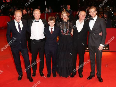 Stellan Skarsgard, Director Hans Petter Moland, Jon Ranes, Danica Curcic, Bjorn Floberg and Tobias Santelmann arrive for the premiere of 'Out Stealing Horses' during the 69th annual Berlin Film Festival, in Berlin, Germany, 09 February 2019. The movie is presented in the Official Competition at the Berlinale that runs from 07 to 17 February.