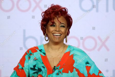 """Kim Fields participates in the """"Living the Dream"""" panel during the Britbox presentation at the Television Critics Association Winter Press Tour at The Langham Huntington, in Pasadena, Calif"""