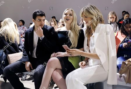 Tiffany Trump (C) daughter of US President Donald Trump and her mother Marla Maples (R) attend the Taoray Wang  fashion show during New York Fashion Week in New York, New York, 09 February 2019. New York Fashion Week for designer's autumn and winter lines is being held from 06 to 13 February 2019.