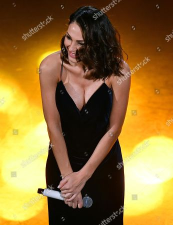 Anna Tatangelo performs on stage at the Ariston theatre during the 69th Sanremo Italian Song Festival, Sanremo, Italy, 09 February 2019. The festival runs from 05 to 09 February.