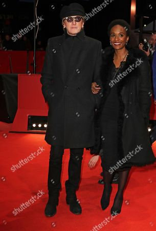Marius Mueller-Westernhagen (L) with wife Lindiwe Suttle (R) arrive for the premiere of 'The Golden Glove' (Der Goldene Handschuh) during the 69th annual Berlin Film Festival, in Berlin, Germany, 09 February 2019. The movie is presented in the Official Competition at the Berlinale that runs from 07 to 17 February.