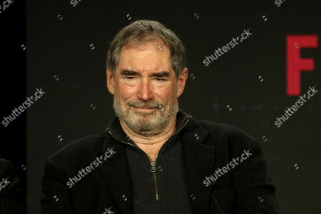 """Stock Picture of Timothy Dalton participates in the """"DC Universal - Doom Patrol"""" panel during the Warner Bros presentation at the Television Critics Association Winter Press Tour at The Langham Huntington, in Pasadena, Calif"""
