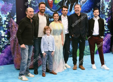 "F. Murray Abraham, Gerard Butler, AJ Kane, America Ferrera, Jay Baruchel, Craig Ferguson, Christopher Mintz-Plasse. Cast members from left, F. Murray Abraham, Gerard Butler, AJ Kane, America Ferrera, Jay Baruchel, Craig Ferguson and Christopher Mintz-Plasse attend the premiere of ""How to Train Your Dragon: The Hidden World"" at the Regency Village Theatre, in Los Angeles"