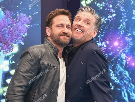 "Gerard Butler, Craig Ferguson. Cast members Gerard Butler, left, and Craig Ferguson attend the premiere of ""How to Train Your Dragon: The Hidden World"" at the Regency Village Theatre, in Los Angeles"