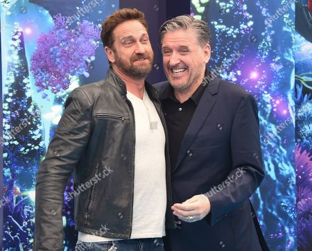 "Stock Picture of Gerard Butler, Craig Ferguson. Cast members Gerard Butler, left, and Craig Ferguson attend the premiere of ""How to Train Your Dragon: The Hidden World"" at the Regency Village Theatre, in Los Angeles"