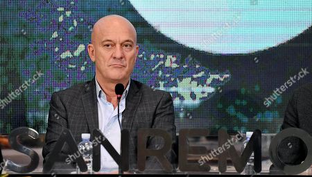 Claudio Bisio attends the final press conference of the 69th Sanremo Italian Song Festival, in Sanremo, Italy, 10 February 2019. The festival was running from 05 to late 09 February 2019 evening.