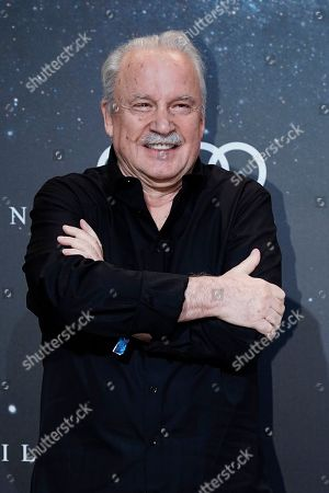 Italian singer, songwriter, DJ and record producer Giorgio Moroder poses on the 'black carpet' of the 'Place to B' party during the 69th annual Berlin Film Festival, in Berlin, Germany, 09 February 2019. The party of German tabloid newspaper BILD under the motto 'Space Night' took place during the Berlinale that runs from 07 to 17 February 2019.