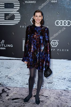 Christiane Paul poses on the 'black carpet' of the 'Place to B' party during the 69th annual Berlin Film Festival, in Berlin, Germany, 09 February 2019. The party of German tabloid newspaper BILD under the motto 'Space Night' took place during the Berlinale that runs from 07 to 17 February 2019.