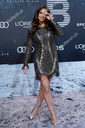 German TV presenter Laura Wontorra poses on the 'black carpet' of the 'Place to B' party during the 69th annual Berlin Film Festival, in Berlin, Germany, 09 February 2019. The party of German tabloid newspaper BILD under the motto 'Space Night' took place during the Berlinale that runs from 07 to 17 February 2019.