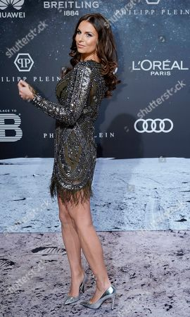 Stock Image of German TV presenter Laura Wontorra poses on the 'black carpet' of the 'Place to B' party during the 69th annual Berlin Film Festival, in Berlin, Germany, 09 February 2019. The party of German tabloid newspaper BILD under the motto 'Space Night' took place during the Berlinale that runs from 07 to 17 February 2019.