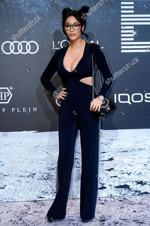 German entrerpeneur and TV presenter Verona Pooth poses on the 'black carpet' of the 'Place to B' party during the 69th annual Berlin Film Festival, in Berlin, Germany, 09 February 2019. The party of German tabloid newspaper BILD under the motto 'Space Night' took place during the Berlinale that runs from 07 to 17 February 2019.