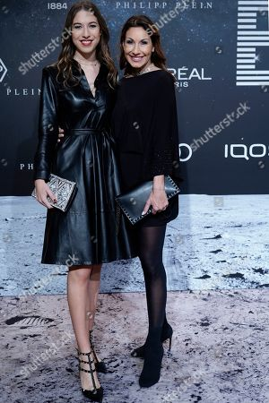 Alana Siegel (L) and her mother Dagmar Koegel (R) pose on the 'black carpet' of the 'Place to B' party during the 69th annual Berlin Film Festival, in Berlin, Germany, 09 February 2019. The party of German tabloid newspaper BILD under the motto 'Space Night' took place during the Berlinale that runs from 07 to 17 February 2019.