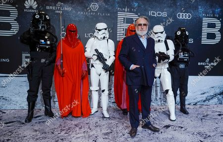 Friedrich Liechtenstein (3-R) poses on the 'black carpet' of the 'Place to B' party during the 69th annual Berlin Film Festival, in Berlin, Germany, 09 February 2019. The party of German tabloid newspaper BILD under the motto 'Space Night' took place during the Berlinale that runs from 07 to 17 February 2019.