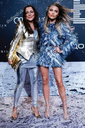 Simone Thomalla (L) poses with her daughter, German actress Sophia Thomalla (R) on the 'black carpet' of the 'Place to B' party during the 69th annual Berlin Film Festival, in Berlin, Germany, 09 February 2019. The party of German tabloid newspaper BILD under the motto 'Space Night' took place during the Berlinale that runs from 07 to 17 February 2019.