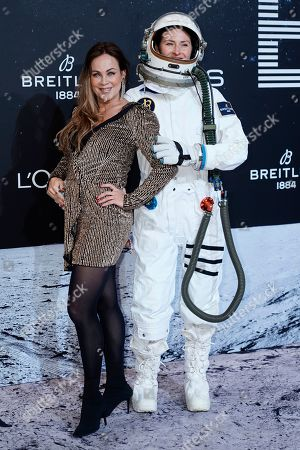 Sonja Kirchberger (L) poses on the 'black carpet' of the 'Place to B' party during the 69th annual Berlin Film Festival, in Berlin, Germany, 09 February 2019. The party of German tabloid newspaper BILD under the motto 'Space Night' took place during the Berlinale that runs from 07 to 17 February 2019.