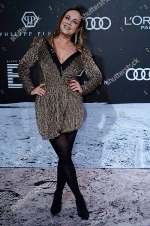 Sonja Kirchberger poses on the 'black carpet' of the 'Place to B' party during the 69th annual Berlin Film Festival, in Berlin, Germany, 09 February 2019. The party of German tabloid newspaper BILD under the motto 'Space Night' took place during the Berlinale that runs from 07 to 17 February 2019.
