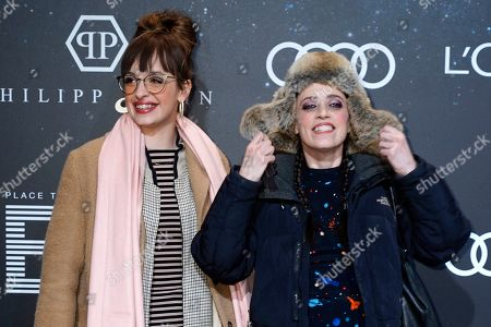 Stock Photo of Nellie Thalbach (L) poses with her mother, German actress Anna Thalbach (R) on the 'black carpet' of the 'Place to B' party during the 69th annual Berlin Film Festival, in Berlin, Germany, 09 February 2019. The party of German tabloid newspaper BILD under the motto 'Space Night' took place during the Berlinale that runs from 07 to 17 February 2019.