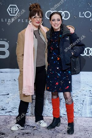 Nellie Thalbach (L) poses with her mother, German actress Anna Thalbach (R) on the 'black carpet' of the 'Place to B' party during the 69th annual Berlin Film Festival, in Berlin, Germany, 09 February 2019. The party of German tabloid newspaper BILD under the motto 'Space Night' took place during the Berlinale that runs from 07 to 17 February 2019.