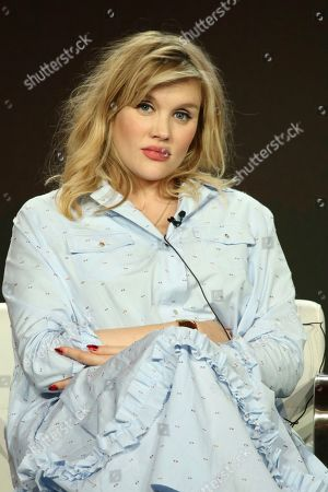 """Stock Photo of Emerald Fennel participates in the """"Killing Eve"""" panel during the BBC America presentation at the Television Critics Association Winter Press Tour at The Langham Huntington, in Pasadena, Calif"""