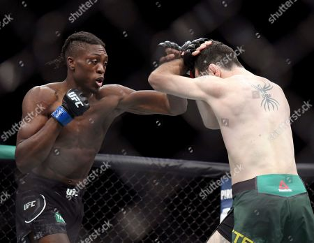 Stock Picture of Callan Potter, right, and Jalin Turner fight during their Lightweight title bout at the UFC 234 event in Melbourne, Australia