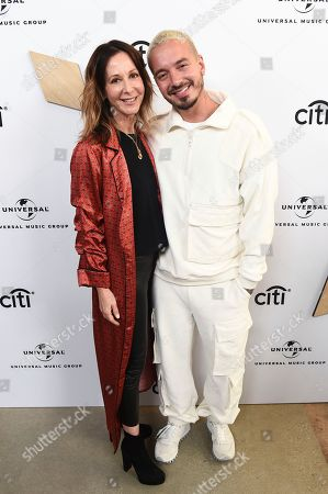Jody Gerson, J Balvin. Jody Gerson, CEO of Universal Music Publishing Group, left, and J Balvin attend Sir Lucian Grainge's 2019 Artist Showcase Presented by Citi on in Los Angeles