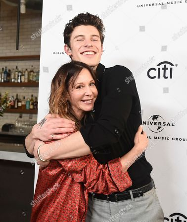 Jody Gerson, CEO of Universal Music Publishing Group, left, and Shawn Mendes attend Sir Lucian Grainge's 2019 Artist Showcase Presented by Citi on in Los Angeles