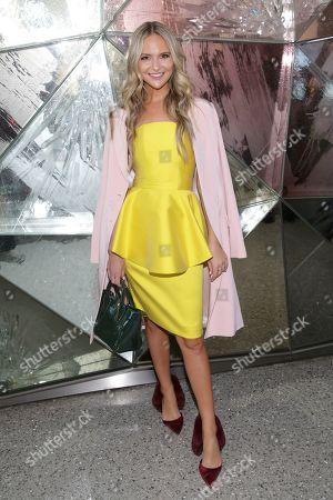Stock Picture of Jackie Miranne attends the Christian Siriano Runway Show held at Top of the Rock at Rockefeller Center during New York Fashion Week on in New York