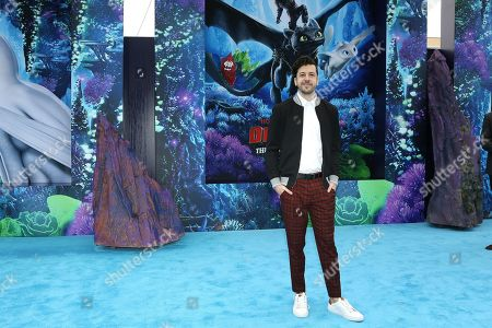 Christopher Mintz-Plasse arrives for the premiere of 'How To Train Your Dragon: The Hidden World' in Westwood, Los Angeles, California, USA, 09 February 2019. The movie opens in the USA on 22 February 2019.