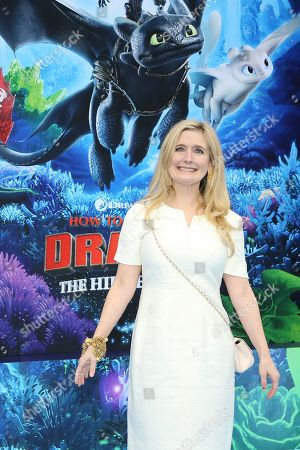 Stock Image of Cressida Cowell arrives for the premiere of 'How To Train Your Dragon: The Hidden World' in Westwood, Los Angeles, California, USA, 09 February 2019. The movie opens in the USA on 22 February 2019.