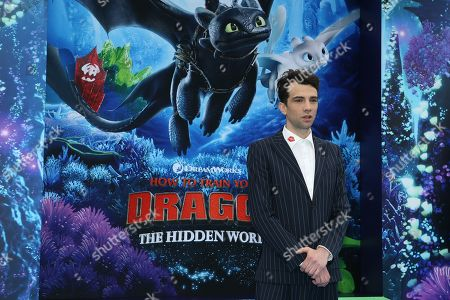 Jay Baruchel arrives for the premiere of 'How To Train Your Dragon: The Hidden World' in Westwood, Los Angeles, California, USA, 09 February 2019. The movie opens in the USA on 22 February 2019.