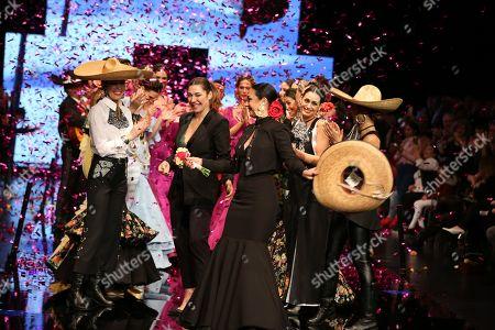 Stock Picture of Designer Pilar Rubio and Raquel Revuelta on the catwalk