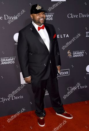 Damon Elliott arrives at the Pre-Grammy Gala And Salute To Industry Icons at the Beverly Hilton Hotel, in Beverly Hills, Calif