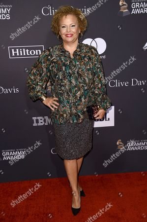 Debra L. Lee arrives at Pre-Grammy Gala And Salute To Industry Icons at the Beverly Hilton Hotel, in Beverly Hills, Calif