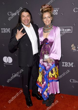 Robert Trujillo, Chloe Trujillo. Robert Trujillo, left, and Chloe Trujillo arrive at Pre-Grammy Gala And Salute To Industry Icons at the Beverly Hilton Hotel, in Beverly Hills, Calif