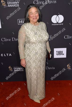 Tina Chen arrives at the Pre-Grammy Gala And Salute To Industry Icons at the Beverly Hilton Hotel, in Beverly Hills, Calif