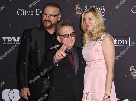 Desmond Child, Paul Williams, Elizabeth Matthews. Desmond Child, from left, Paul Williams, and Elizabeth Matthews arrive at the Pre-Grammy Gala And Salute To Industry Icons at the Beverly Hilton Hotel, in Beverly Hills, Calif