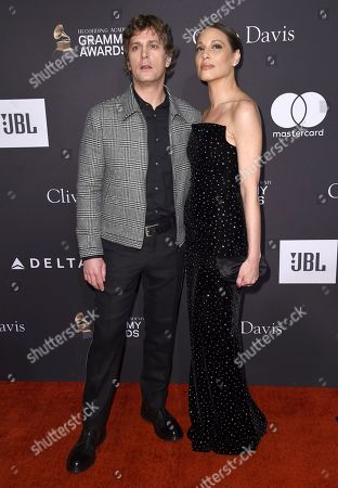 Stock Photo of Rob Thomas, Marisol Maldonado. Rob Thomas, left, and Marisol Maldonado arrive at the Pre-Grammy Gala And Salute To Industry Icons at the Beverly Hilton Hotel, in Beverly Hills, Calif