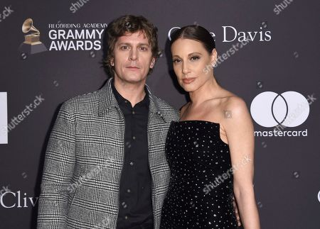 Rob Thomas, Marisol Maldonado. Rob Thomas, left, and Marisol Maldonado arrive at the Pre-Grammy Gala And Salute To Industry Icons at the Beverly Hilton Hotel, in Beverly Hills, Calif
